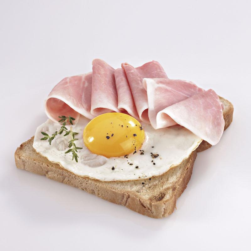 prosciutto cotto e uovo
