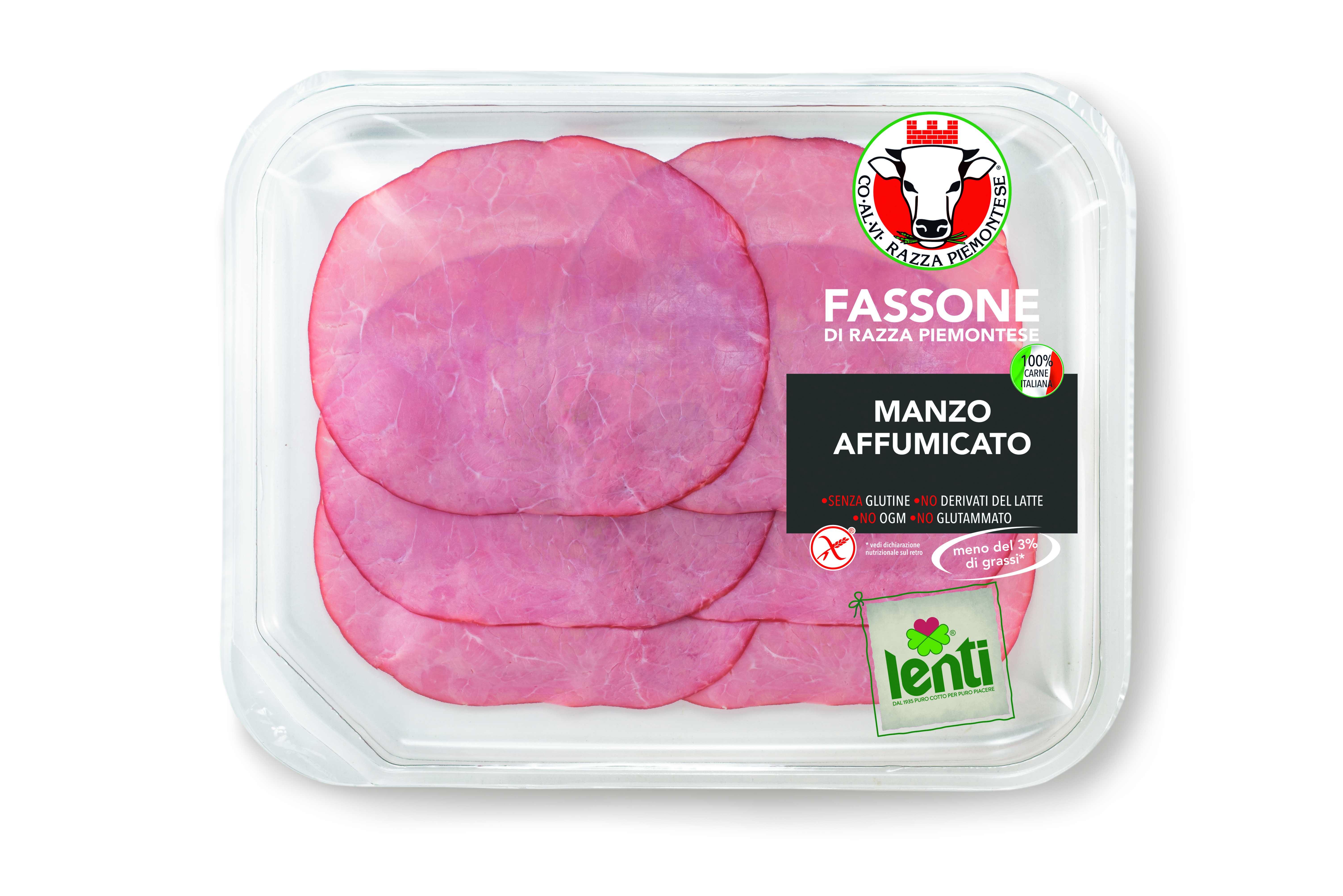 Manzo affumicato di Fassone di Razza Piemontese in Vaschette