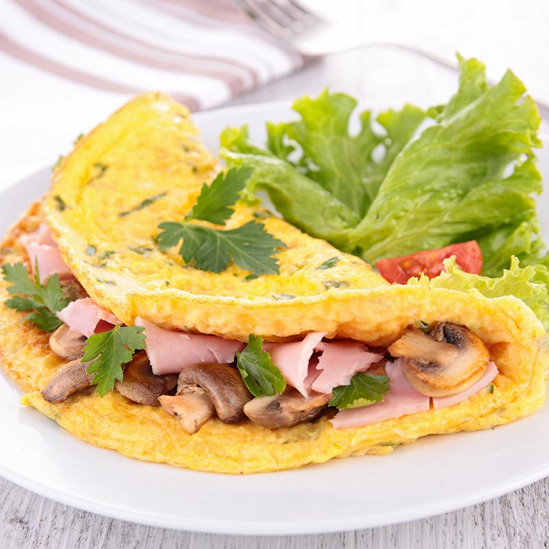 omelette di prosciutto